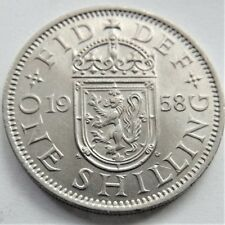1958S GB Elizabeth II Shilling grading About UNCIRCULATED.