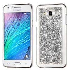 Housses et coques anti-chocs argentés Samsung Galaxy J pour téléphone mobile et assistant personnel (PDA)