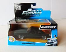 Letty's Plymouth Barracuda Fast & Furious 7 Movie 1/32 by 1:24 diecast Car - New