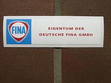 Tanksäule Tankzapfsäule Fina Aufkleber gaspump decal pompe a essence 4 x 15 cm