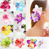 4pcs Orchid Flower Large Hair Clamp Claw Clip Chic Barrette Hair Accessories