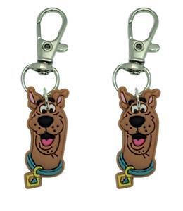 Scooby Zipper Pull Set of 2 Zip Pull Badge Reel Purse Collar Charm