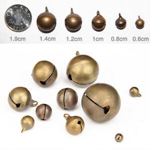 Wholesale Bronze Metal Brass Jingle Bells Pendant Charm Craft Beads Making DIY