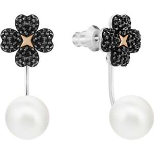 Swarovski 5389161 'Latisha' Flower & Pearl Jacket Earrings - NIB