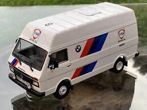 IXO 1/43 VW LT45 Prodrive BMW M3 E30  Assistance Service Rally FINA