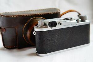 "Leitz Wetzlar Leica IIIc Kamera m.Gravur ""Samuel E. Bray"" (!) * Germany 1946 *"