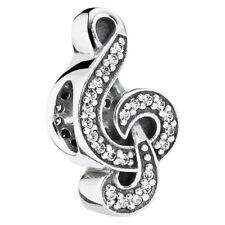 New Genuine Pandora Sweet Music charm Silver S925 ALE 791381CZ