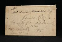 NH: Columbia (#2) 1836 Stampless Cover, Alexandria, NY Forward, DPO Coos Co