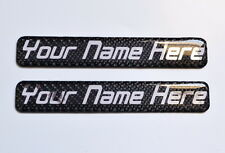 Customized your Nickname Name Phone real carbon fiber tank helmet sticker trim