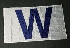 """Chicago Cubs """"W"""" Win Winners Victory White Flag 3X5"""