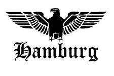 Reichsadler Hamburg Auto Aufkleber Sticker Schrift Adler Deutschland shocker