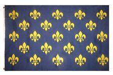 3x5 SMALL FLEUR DE LIS BLUE 23 FRENCH FRANCE FLAG SIZE 3 X 5 FEET POLYESTER NEW