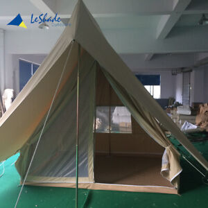 Leshade Bell Glamping Camping Awning Canopy Canvas Wall Triangle Pyramid Tent