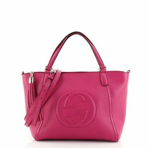 Gucci Soho Convertible Top Handle Bag Leather Small