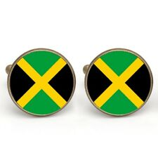 Cufflinks, Jamaican Flag Colour Cufflinks....... Gold Plated