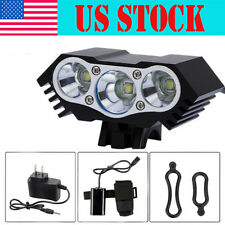 Rechargable 7500LM 3x CREE XM-L U2 LED Front Headlight Bicycle Lamp Bike Light