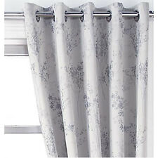"""Tokyo 3 Pass Blackout Ring Top Eyelet Heading Curtains or Matching Cushions Silver 45x90"""" (114x229cm)"""