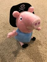 "Peppa Pig SOFT BROTHER GEORGE PIG PIRATE W/ SOUND 8"" Plush STUFFED ANIMAL"
