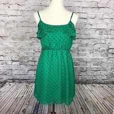 Women's RUE 21 Green & Black Polka Dot Spring Dress Size S