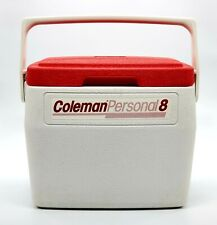 New listing Vintage Coleman Personal 8 Lunch Box Cooler Ice Chest Red White 5272 6 Qt