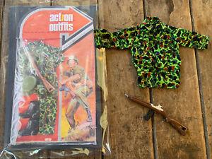 Vintage 1970's  LJN - MR ACTION OUTFITS - Marine Shirt & Rifle- GI JOE Marine