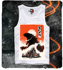 E1SYNDICATE TANK TOP SHIRT GODZILLA GOJIRA JAPAN ANIME MANGA HENTAI KING KONG T