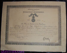 DIPLOME  MEDAILLE MILITAIRE GENDARME CORSE 1918