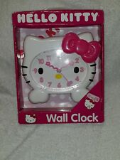 "Hello Kitty Wall Clock 8"" x 7 1/2 Nib 2012"