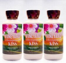 3 Bath & Body Works VINEYARD CHAMPAGNE KISS Body Lotion Cream Nourish Moisture