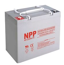 NPP 12V 50Ah 55Ah 200W High Rate UPS Battery Replaces CSB HRL 12200W