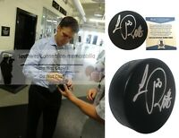 Luc Robitaille LA Kings Signed Autograph Hockey Puck Red Wings BAS Beckett Proof