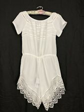 Off Shoulder One Piece Romper Suit With Lace Womens Large White