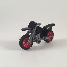 LEGO Dirt Bike Motorcycle NEW Black Red Rims Motocross Dirtbike City Town