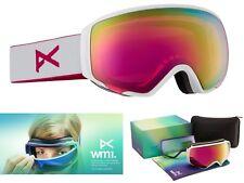 NEW Anon Burton WM1 White Pink Mirror Womens Ski Snowboard Goggles + lens Rt$240