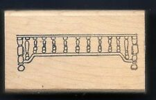 SHELF WOODWORK SPINDLES Wood Lathe dollhouse household HIPPO HEART RUBBER STAMP