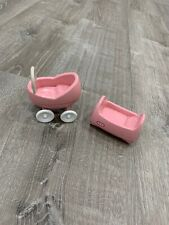 Little Tikes Pink Cradle And Buggy Doll House Size
