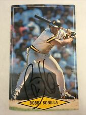 Bobby Bonilla Signed Giant Trading Card 1990 Pittsburgh Pirates Autograph