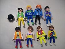 LOT OF 8 VINTAGE PLAYMOBIL BOY & GIRL FIGURES GEOBRA SPEEDSTER 1992-93
