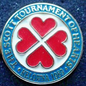 Curling Club Pin - The Scott Tournament of Hearts 1989 Kelowna