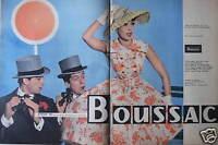 PUBLICITÉ 1958 BOUSSAC LA ROBE LA PLUS ADMIRÉE - ADVERTISING