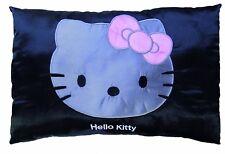 CTI Kinderkissen Kuschelkissen Kissen Hello Kitty Satin black   28 x 42 cm neu