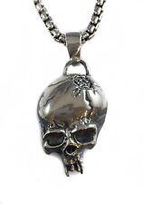 Metallica Cracked Skull Sterling Silver 925 Pendant