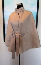 Banana Republic Khaki Belted Cape Rain Jacket XL NWOT