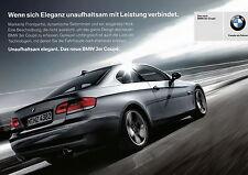 Werbekarte BMW 3er Coupé E93 2007 Werbung Autowerbung Karte card Pkw Auto