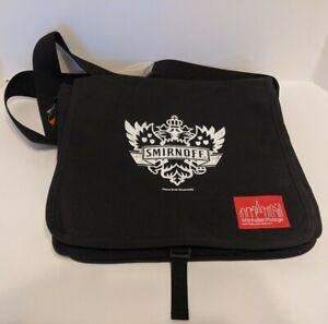 Manhattan Portage New York, New York USA Smirnoff Messenger/Shoulder Bag - Black