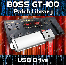 BOSS GT-100 PRE-PROGRAMMED TONE PATCHES USB 5,500+ GUITAR EFFECTS PEDALS