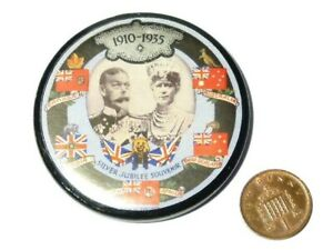 1935 Souvenir Compact Mirror King George V Silver Jubilee Celluloid
