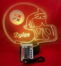 Steelers Lamp LED Light Up Night Lights With Remote and Personalized Free NFL