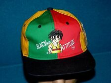 Vintage/New! Black with Attitude : 6 panel Ball Cap @ Africa Black Power Bwa
