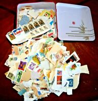 CatalinaStamps: Keewah Bakery Tin Filled with WW On-Paper Stamps, 1.5 lbs, Lot H